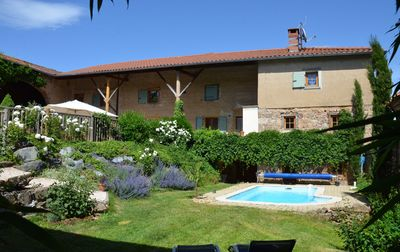 Photo for Gite for 15 people in the mountains of Lyon - Swimming pool - Jacuzzi - Sauna