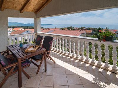 Photo for One bedroom apartment with terrace and sea view Krk (A-5424-a)