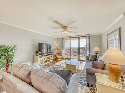 Photo for Oceanview villa w/ hot tub, shared pool & more - easy beach access!
