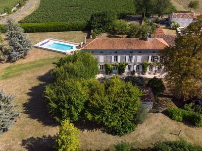 Photo for Stunning 18th Century Charentais Logis with Swimming Pool near Cognac