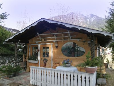 Photo for Quaint chalet in an idyllic location with sunbathing area(grass), 3 km from Imst