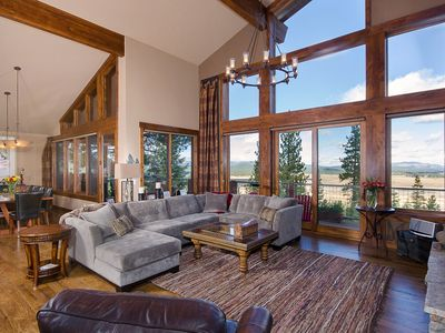 Living Room with Valey Views