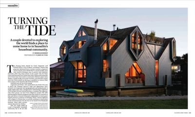 Houseboat as featured in California Home + Design Magazine