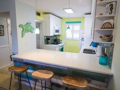"Photo for ""The Beach Shack"" Family-friendly beachfront condo on no-drive beach you are sure to love! Sleeps 6!"