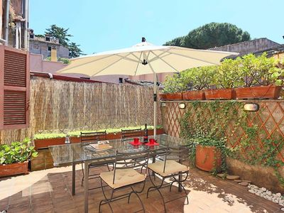 Photo for Nice Colosseum Terrace Apartment