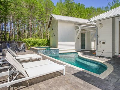 Photo for Best Year Round Beach Rental in Seagrove! Private Heated Pool/Spa & Fire Bowl