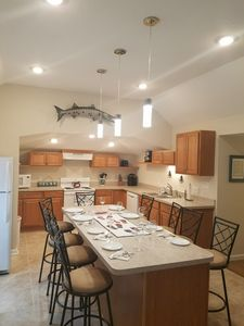 Barry the barracuda protects the kitchen area and Great Room