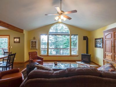 Photo for Dog-friendly family getaway with two canoes, a rec room & lake access nearby!