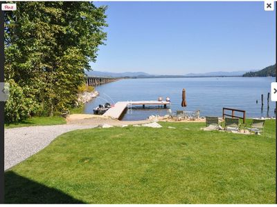 Photo for Waterfront Home With Private Beach, Dock And Fire Pit