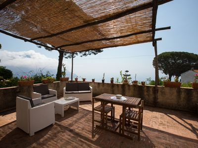 Photo for Il nido with large private terrace with sea view located in a quite area
