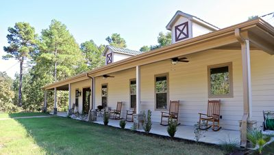 5-Bedroom Open Concept Home Nestled among the Pine Trees on a quiet road.