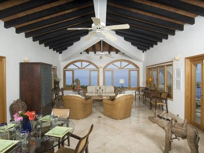 Photo for 5 Star Luxury Villa, 290 DegreeOcean  Views,  Very Private Pool, walk to Beach