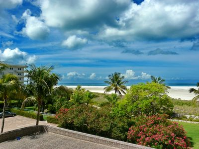 Photo for Rustic beachfront condo w/ heated pool on Tigertail Beach