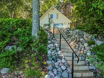 Photo for Cottage w/ lake views, private dock & fire pit - near public boat launch!