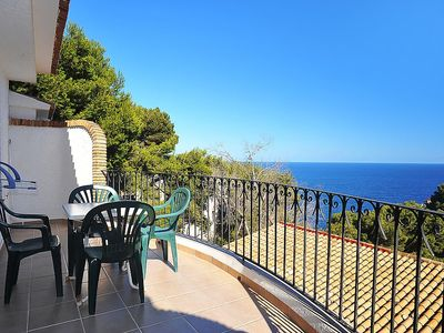 """Photo for Apartment a short walk away (166 m) from the """"Cala La Barra"""" in Xàbia with Air conditioning, Terrace, Washing machine (90205)"""