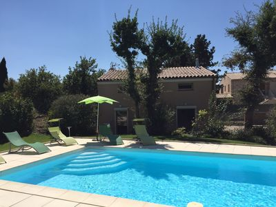 Photo for New BBC Villa with pool - Garden - Parking - in a Provencal town