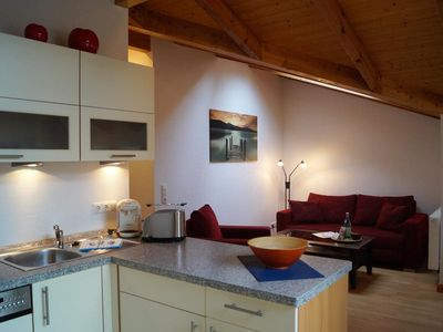 Photo for Cozy apartment with a protected roof terrace, parking space and free Wi-Fi use