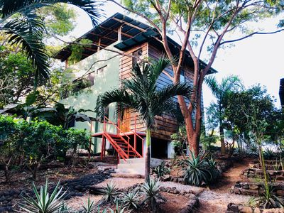 Exterior of the house, facing the jungle