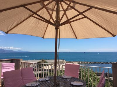 Photo for Fantastic Multilevel Maison Village, Sea Views, In Canter Of Antibes