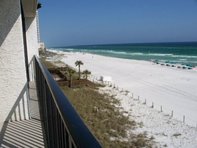 Photo for Luxury, Quiet Beach Front Condo at Seachase, Near Pier Park, Free Beach Set