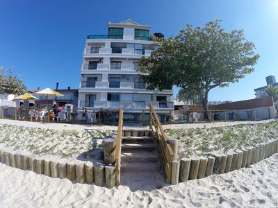 Photo for On the Beach, Facing the Sea - Apartment 4 People - Free WiFi and Air Cond.