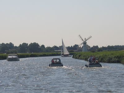 Hire a Day Boat and travel The Broads many rivers.
