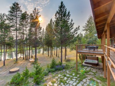 Photo for Riverfront w/ private dock, hot tub, sledding hill & disc golf!