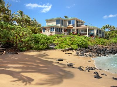 Photo for Sandy Beach House: Oceanfront with Private Pool & AC in Bedrooms!