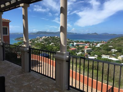 Photo for Beautiful Modern Italianate Villa Overlooking Cruz Bay