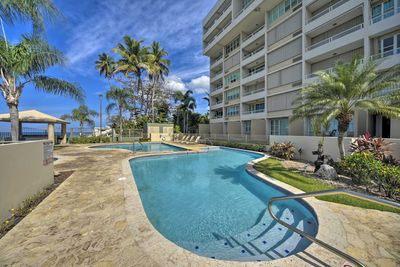 Dip into the pool during your stay in Rincon, Puerto Rico!