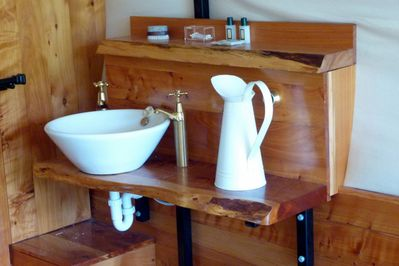 Shower, toilet and basin on-board