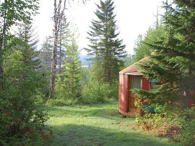 Photo for Mountain View Yurt with full kitchen, bathroom, hiking (Orange yurt, sleeps 4)
