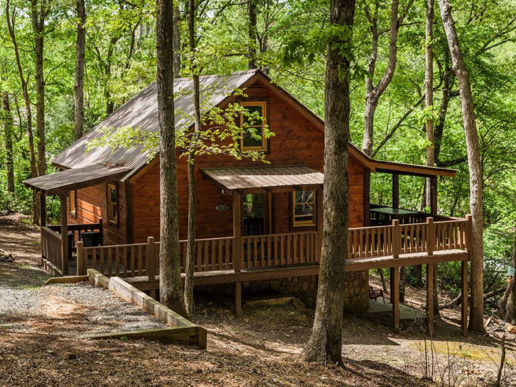 Cartecay fever riverfront cabin sleeps 6 east ellijay for Ellijay cabins for rent by owner