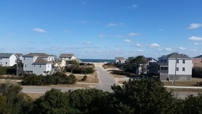View from the crow's nest. Public beach access across the street.