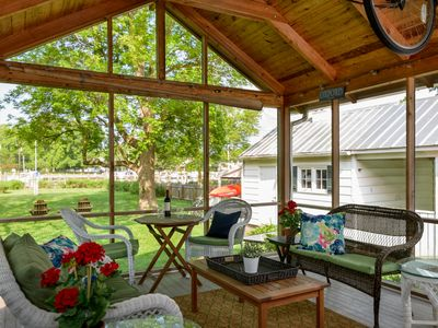 Photo for Oxford Waterfront Cottage-Walk to Town, Kayak, Dock, and Bikes