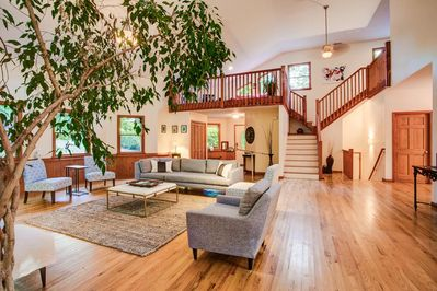 The Great Room featuring beautiful hardwood floors