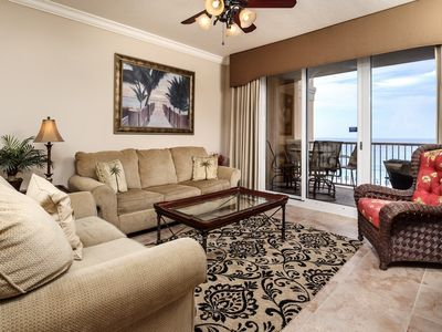 Photo for Stunning Gulf Front Condo! Sleeps 8, Fun Amenities, Nearby Shopping and Dinning!