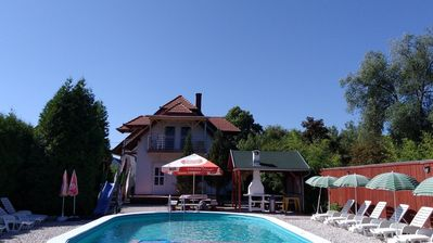 Photo for Apartment with pool for max. 3 people directly on the lake / BMO 8627