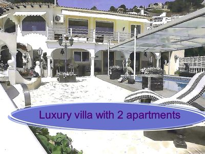 Photo for Villa Paraiso Calpe Luxury holiday home with 2 apartments and heated pool Calpe