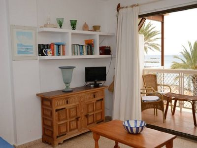 Photo for Es Pujols: Apartment on the seafront of Es Pujols with splendid views