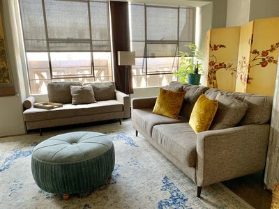 Photo for Spacious Luxe Designer Loft Downtown In Trendy Walkable Area w/ Rooftop Jacuzzi