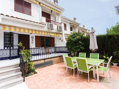 Photo for 4 bedroom Villa, sleeps 7 with Air Con, FREE WiFi and Walk to Beach & Shops
