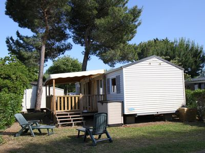 Photo for RENTAL MOBIL HOME 3 ROOMS 2 BATHROOM CLIMATISE + COVERED TERRACE