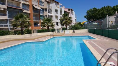 Photo for APARTMENT IN A PRETTY SECURE RESIDENCE - SWIMMING POOL, TENNIS, PRIVATE PARKING