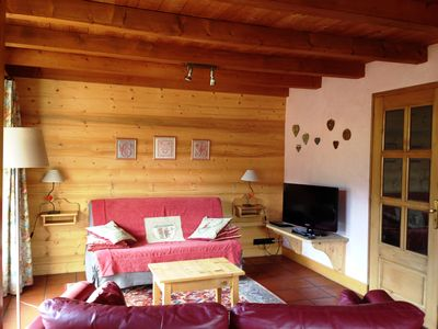 Photo for In the heart of the village in chalet of character, apartment 3 stars