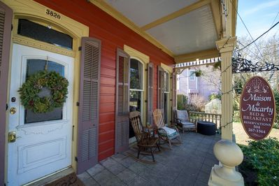 The quintessential New Orleans front porch