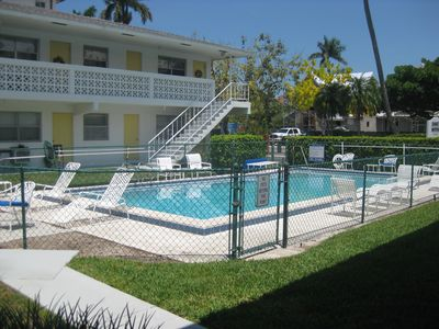 Just steps from the community pool, and 4 blocks from beautiful beaches!