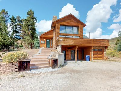 Photo for Stunning home with mountain/lake views, room for eight!