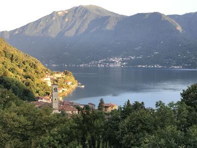 Photo for 50 meters above Lake Lugano. Fantastic view of the mountains