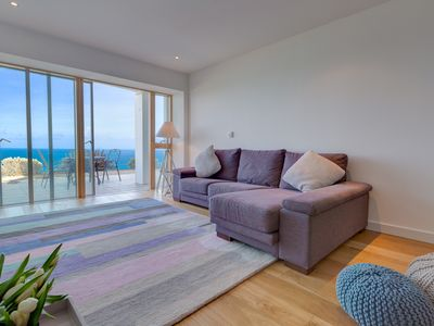 Photo for Barepta Cove is a stunning ground floor seafront apartment in Carbis Bay